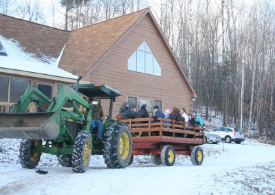 hayride in snow