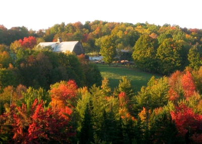 fall view of barn
