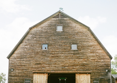 Barn with tractor